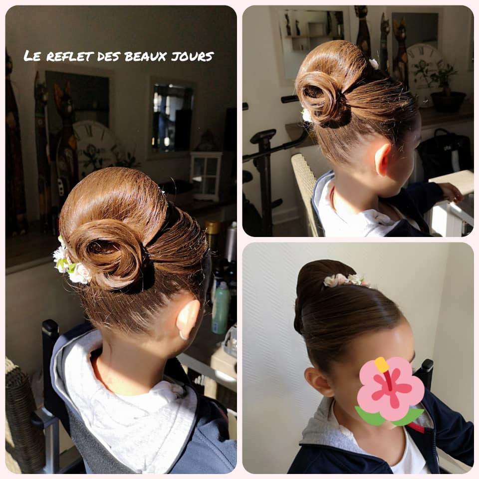 Chignon haut fillette
