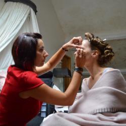 Préparation maquillage Mariée Chateau du Faucon